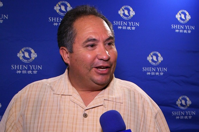 "Phill Gutierrez drove 116 miles to see Shen Yun on Jan. 26 at the California Center for the Arts and said it was ""very inspirational."" (NTD Television)"