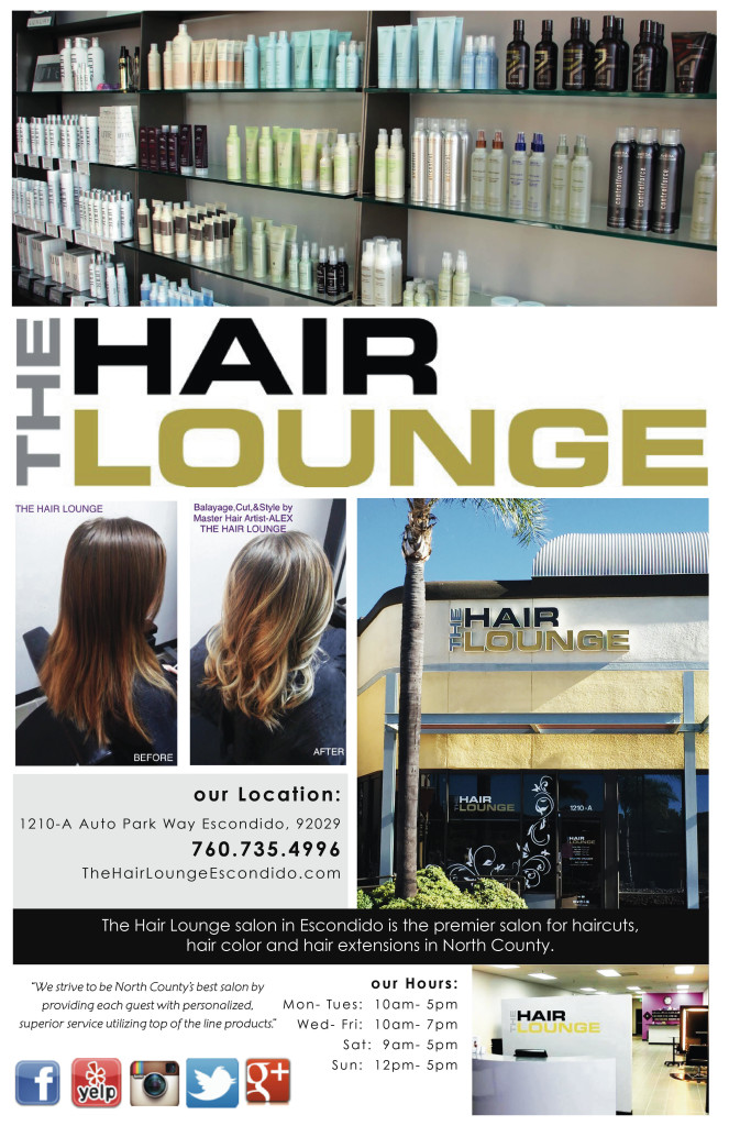 Hair lounge ad