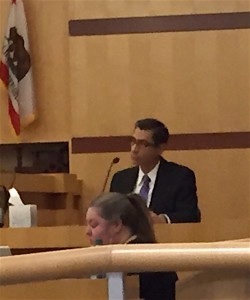 Rankins-Ibarra on the witness stand before Superior Court Judge Richard S. Whitney last week.