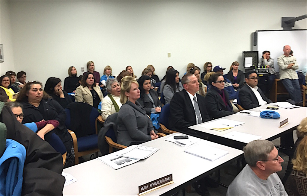 Another view of Thursday's EUSD Board meeting.