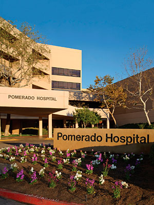 Pomerado Hospital at Poway where Escondido parents went to have their Leap Day baby in 2012, dissing Palomar Hospital in the process.