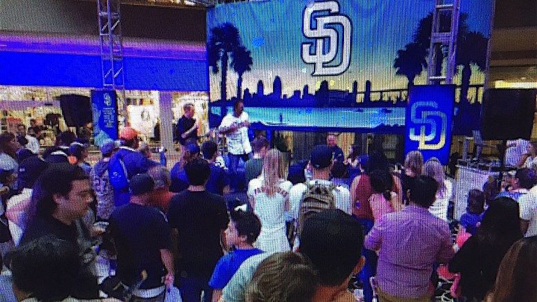 Padres Caravan rolls through Escondido.