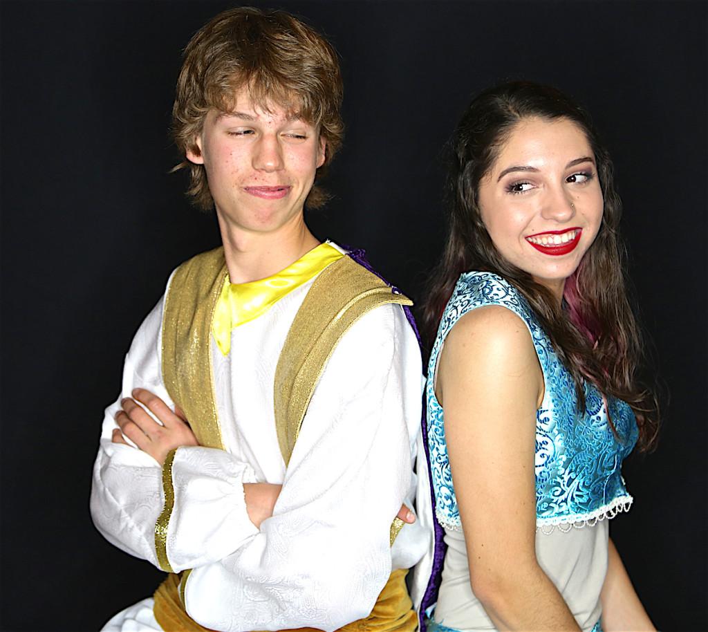 Prince Ali/Aladdin - Izaiah Rhinehart and Princess Jasmine - Natasha Banish.