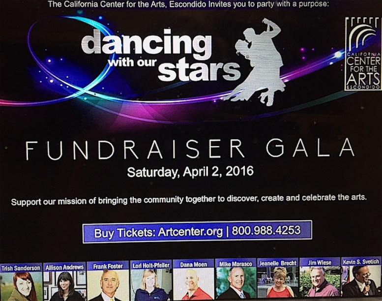 "California Center for the Arts, Escondido ""Dancing With Our Stars"" Gala Fundraiser on April 2."