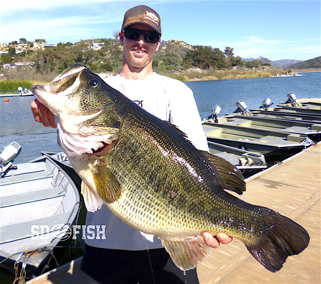 Rising bass fishing star Greg Springer with the one that didn't get away.