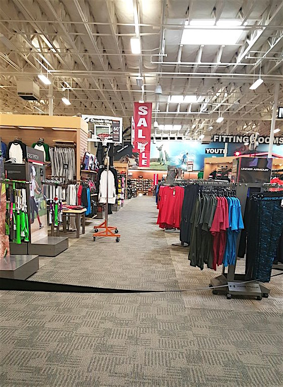 Inside Sport Chalet at Grand Plaza, San Marcos.