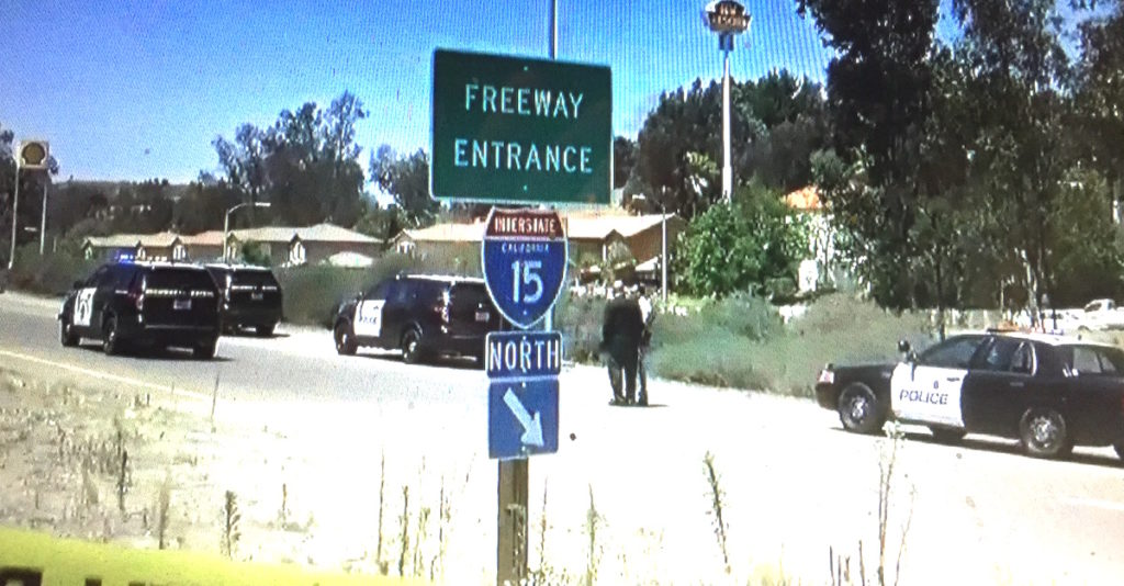 El Norte I-15 on-ramp investigation. (CW6 screen shot)