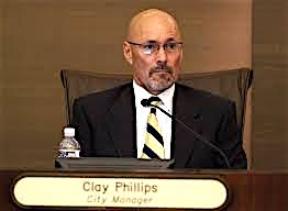 Clay Phillips before his resignation as Escondido city manager.