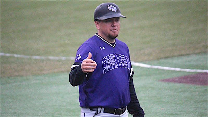 Matt Guiliano coaching at Sioux Falls.