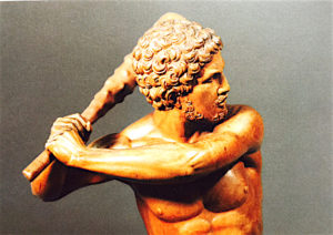 Statuette of Hercules, by Francesco da Sant'Agata, Italy, 1520.