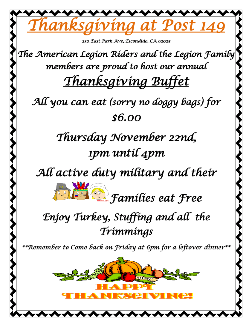 Thanksgiving at Post 149