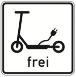 E-Scooter Verkehrsschild