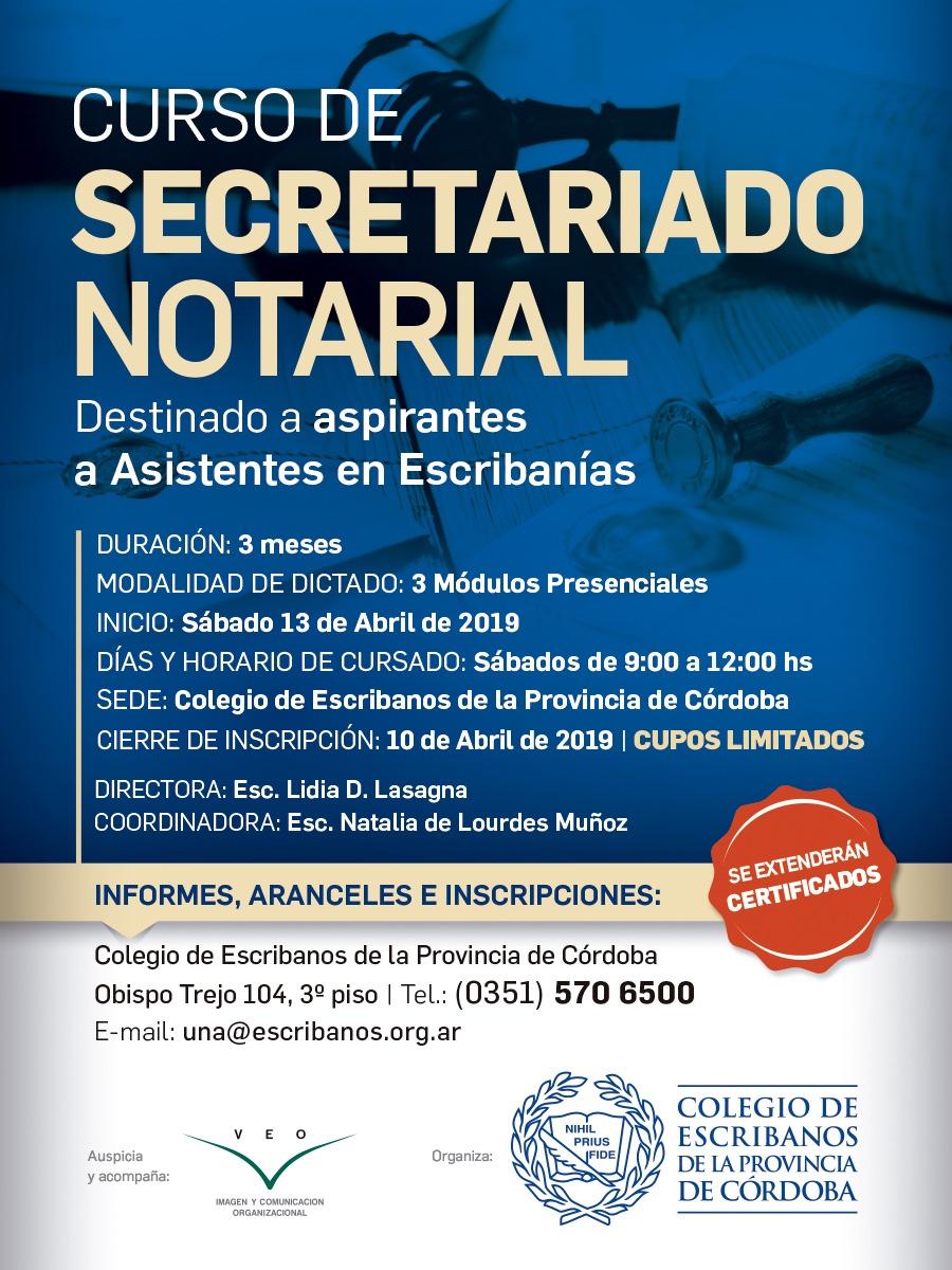 96d714242290 Curso de Secretariado Notarial – Colegio de Escribanos