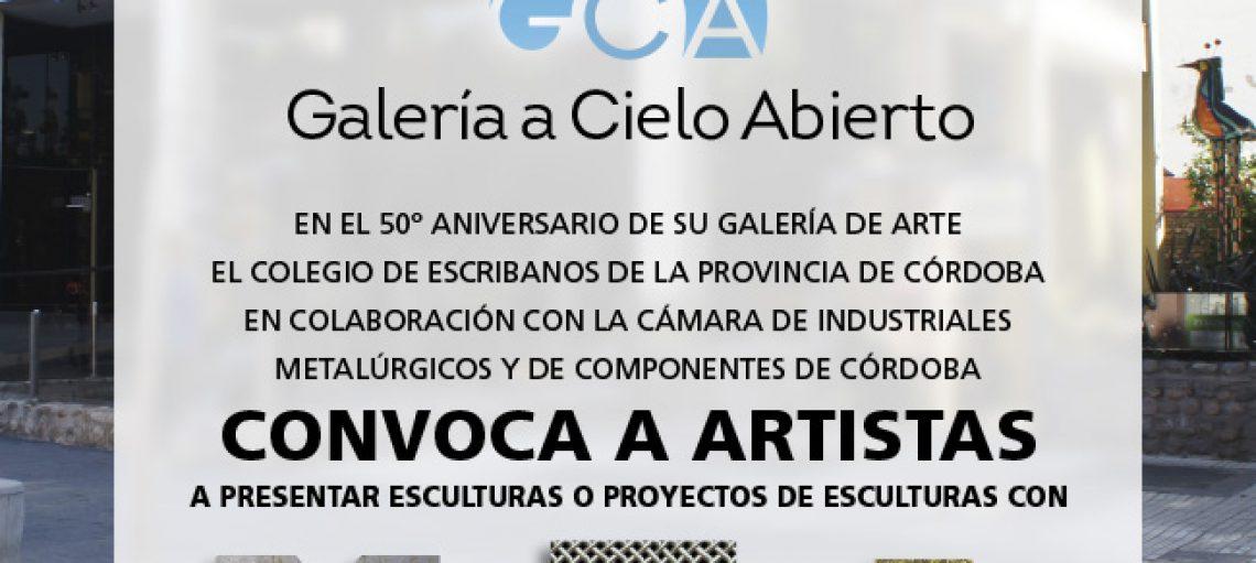 Convocatoria a escultores - Aniversario galería de Arte