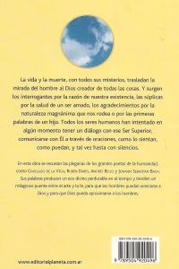 Contratapa Poesía del cielo Editorial Planeta
