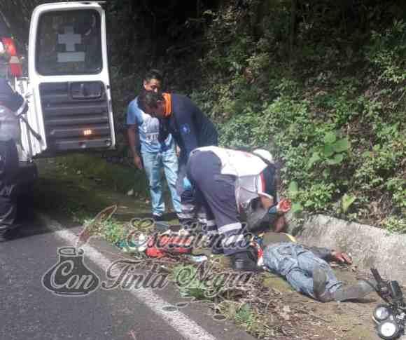 DERRAPA EBRIO MOTOCICLISTA EN HUATUSCO