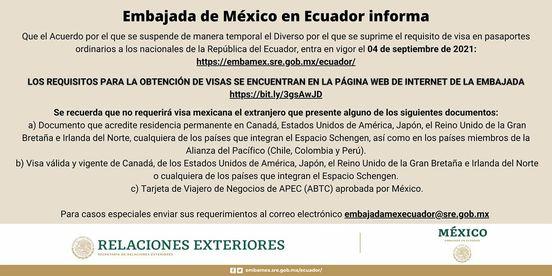 ECUATORIANOS NECESITAN VISA PARA ENTRAR MÉXICO A PARTIR DE HOY
