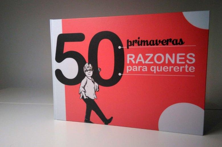 portada libro personalizado 50 cumpleaños