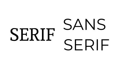 claves de Diseño Web - tipografía con serifa y sin.