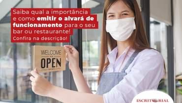 Saiba A Importancia E Como Emitir O Alvara De Funcionamento Para O Seu Bar Ou Restaurante Blog - Contabilidade em Uberlândia   Escritorial Contabilidade