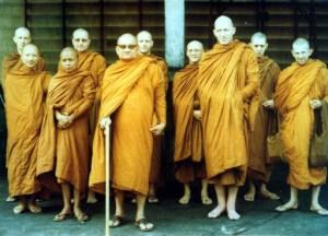 Primer grupo de monjes no tailandeses junto con Ajahn Chah