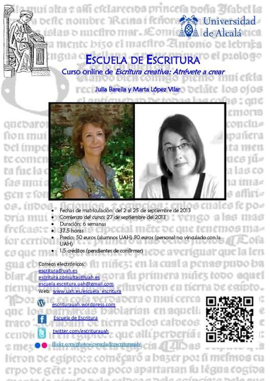 Cartel curso online Escritura creativadef