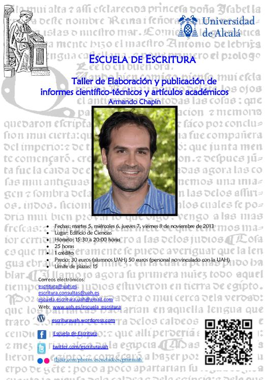 Cartel taller científico-técnico ECT Y LE