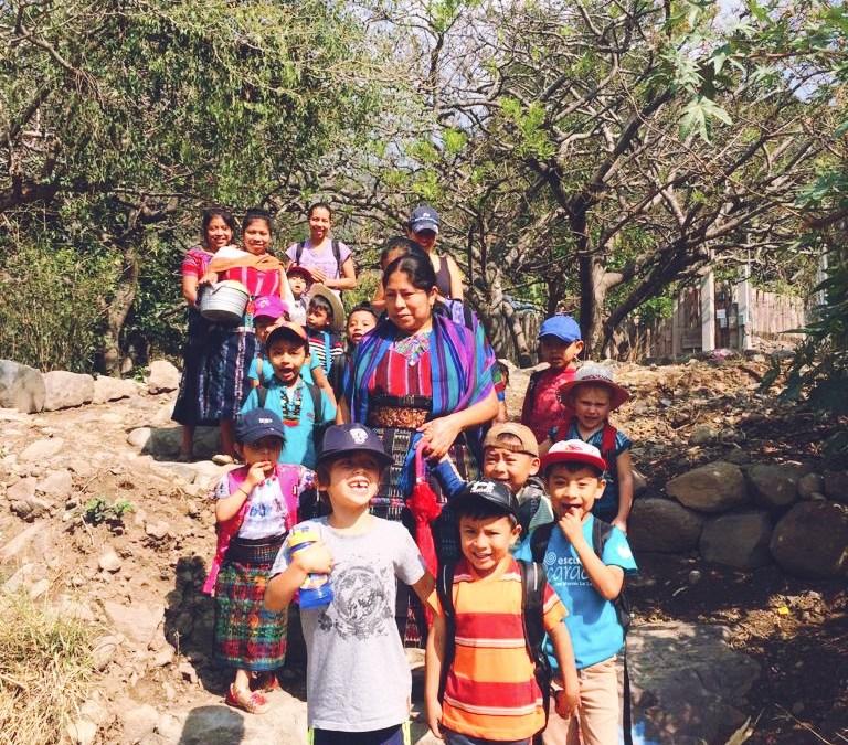 Kindergarten's first adventure outside the school