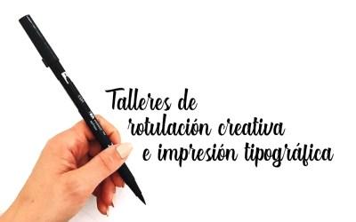 Talleres de lettering e impresión con tipos móviles