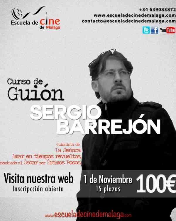 01 Curso de Guion Sergio Barrejon Guionista Productor Amar en tiempos revueltos La señora Eramos Pocos Borga Cobeaga Curso Guion