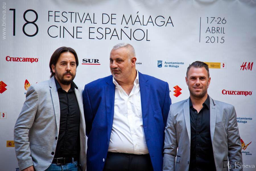 Ezekiel Montes con Phillippe Martínez durante el Festival de Málaga