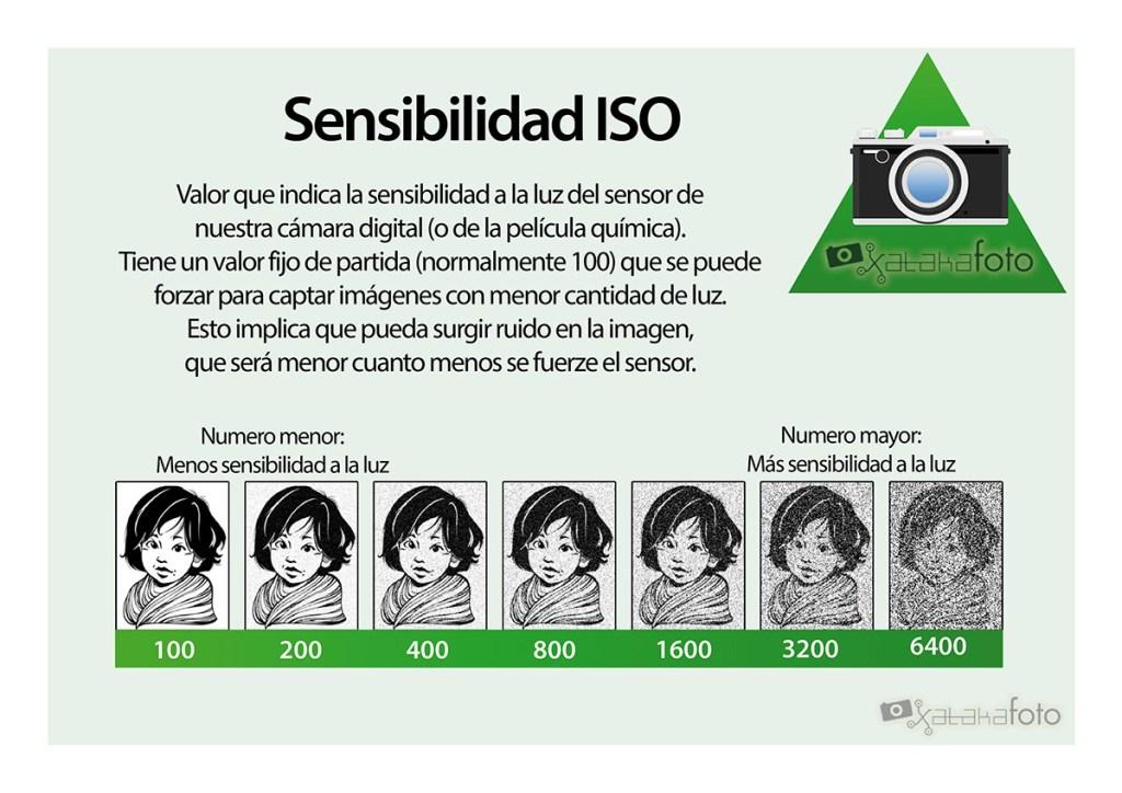Grafico descriptivo de la Sensibilidad ISO