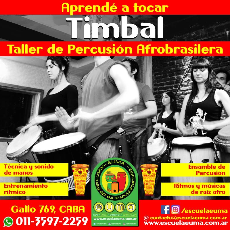 Curso de Timbal Brasilero y Percusión Afrobrasilera