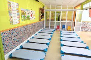 Camas individuales para dormir de la Escuela Infantil Booma