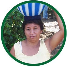 Woman carrying jar