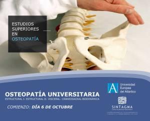 cartel del curso del curso de ostepatía en Valencia