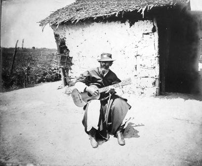 Payador and guitar