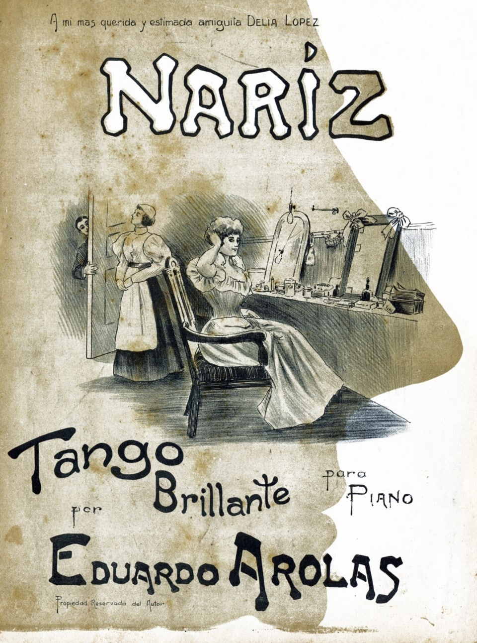 """Nariz"" of Eduardo Arolas. History of Tango by Marcelo Solis. Escuela de Tango de Buenos Aires."