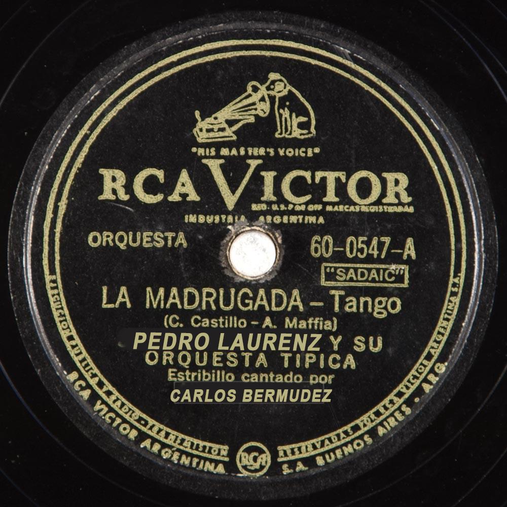 """La madrugada"" by Pedro Laurenz, vinyl disc."