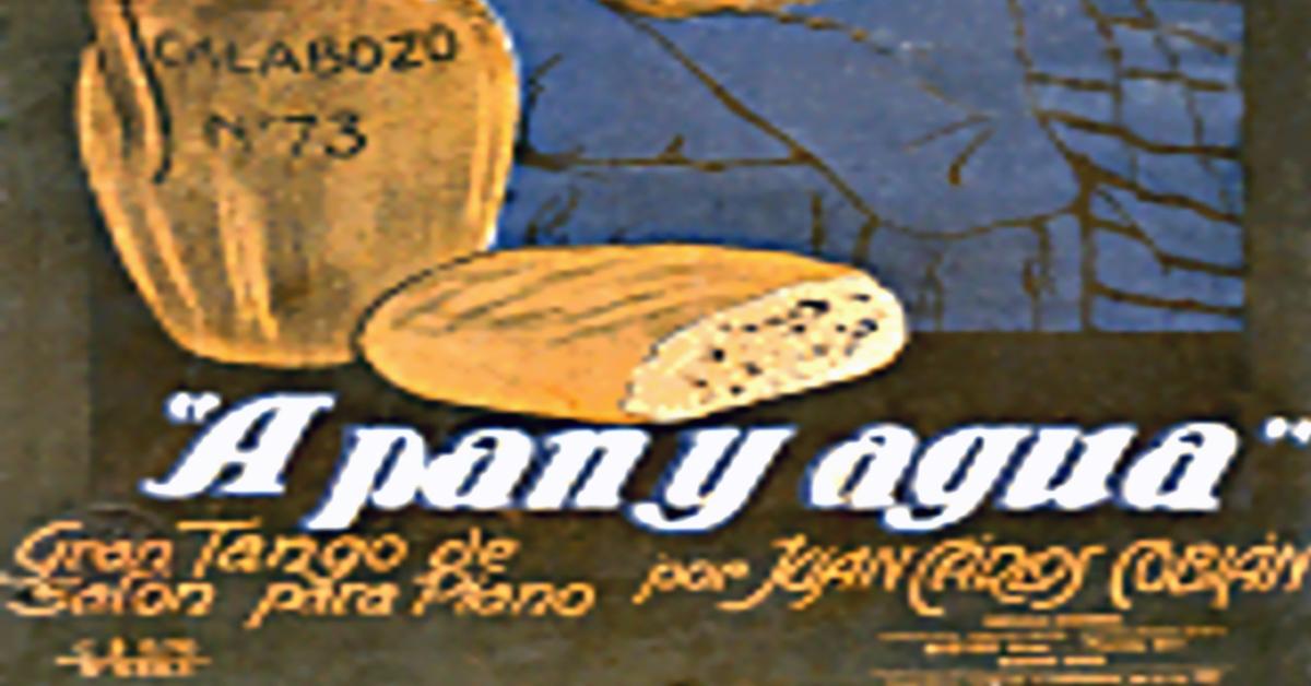 """A pan y agua"", Argentine Tango music sheet cover."