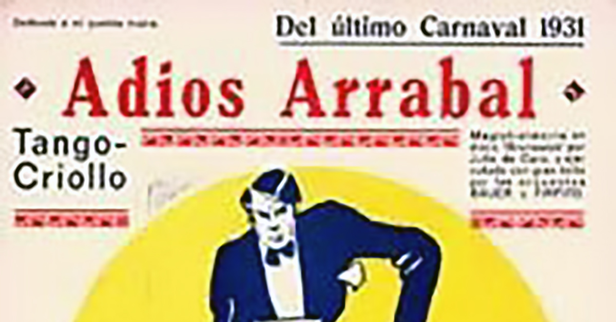 """Adios arrabal"", Argentine Tango music sheet cover."