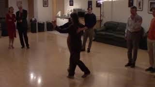Argentine Tango beginner class with Miranda- Details on crossed system walk