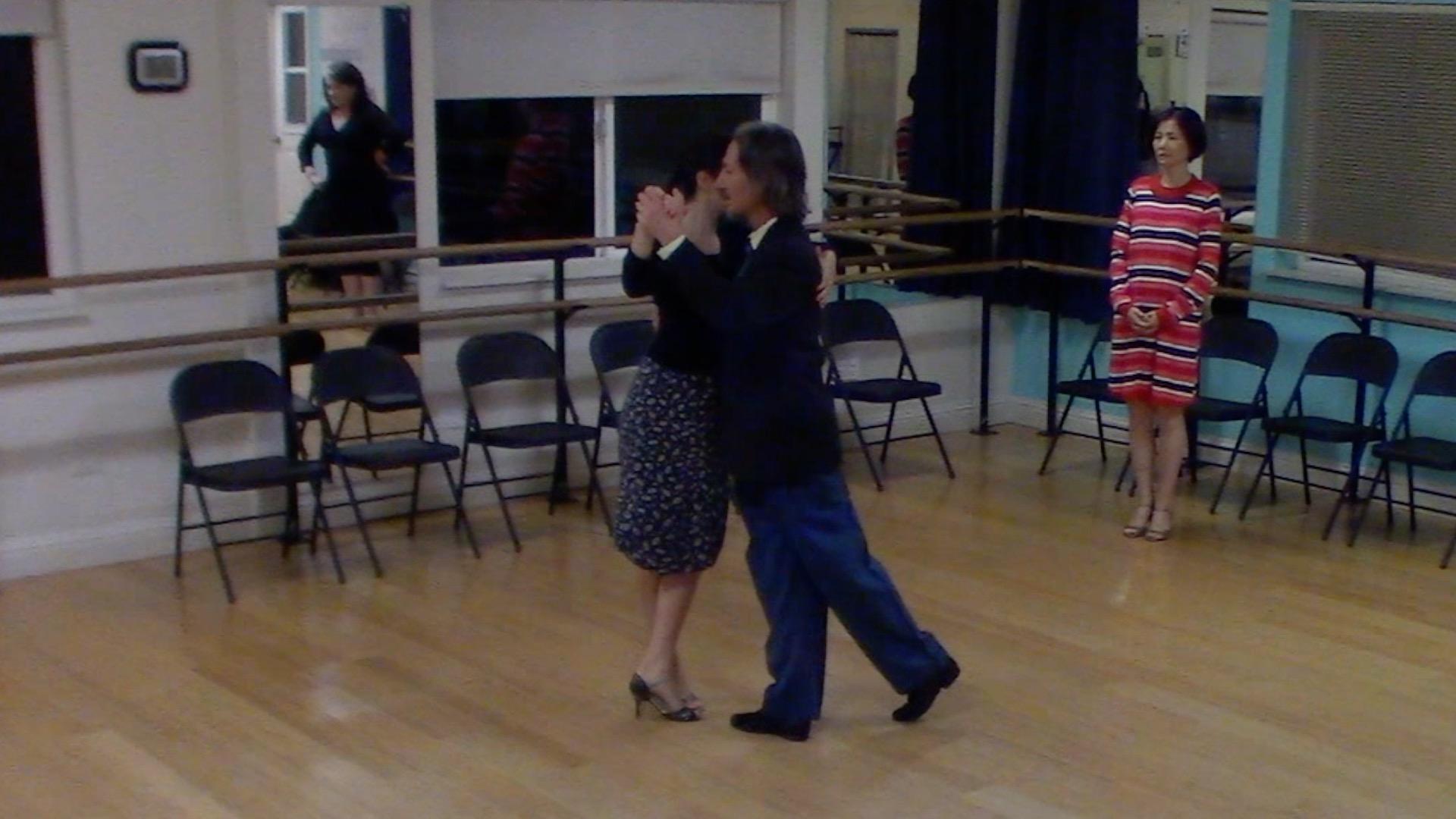 Argentine Tango beginner class with Miranda: salida del 40 or salida cruzada
