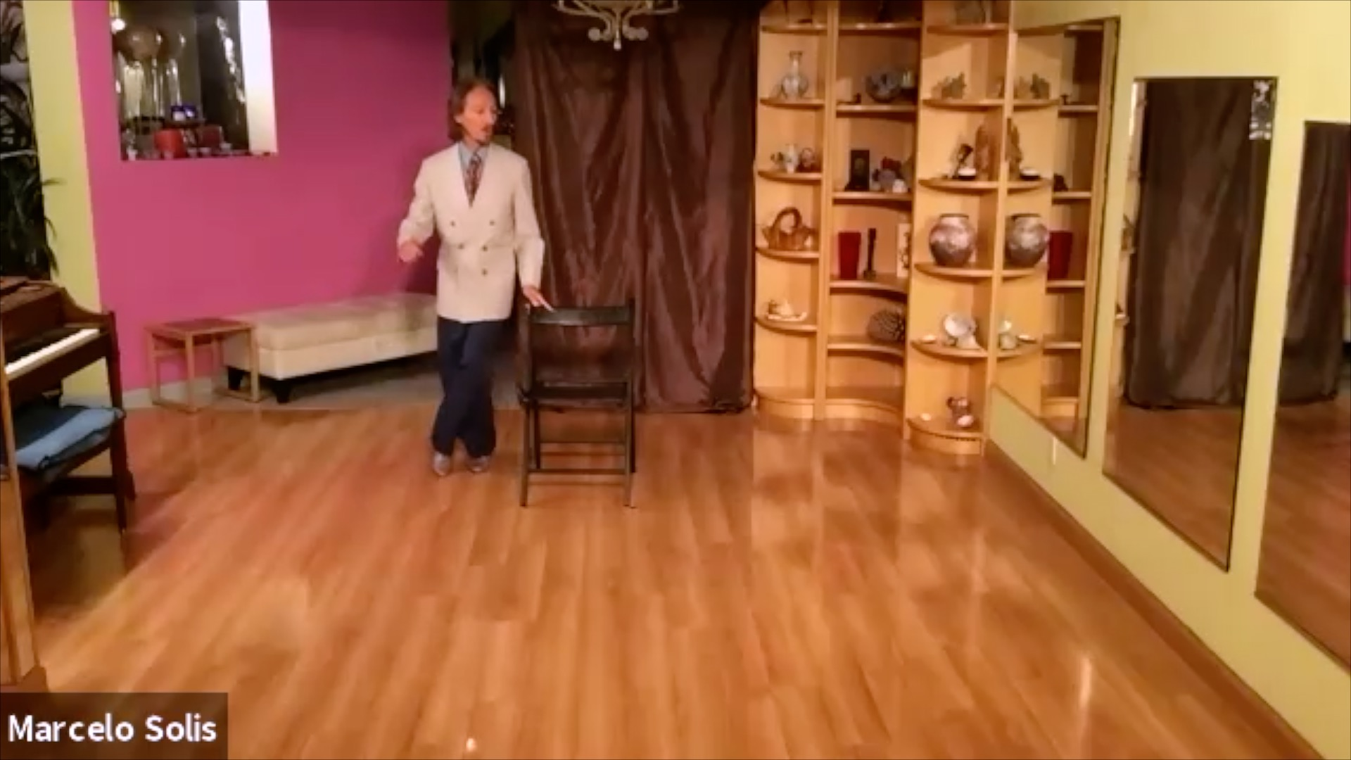 Argentine Tango class: chair exercise variation with boleos with Marcelo Solis