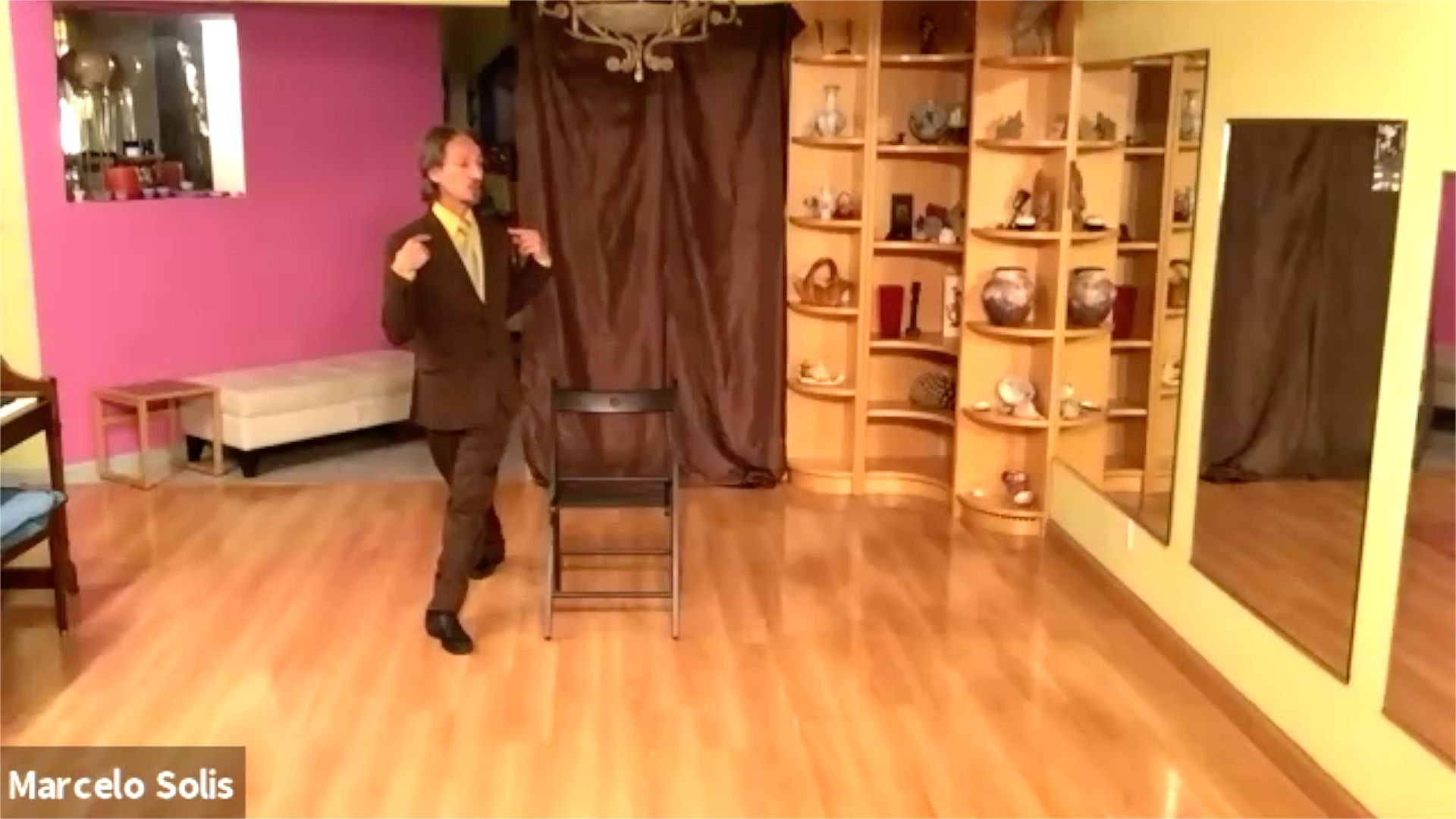 Argentine Tango class: chair exercise variation with Marcelo Solis