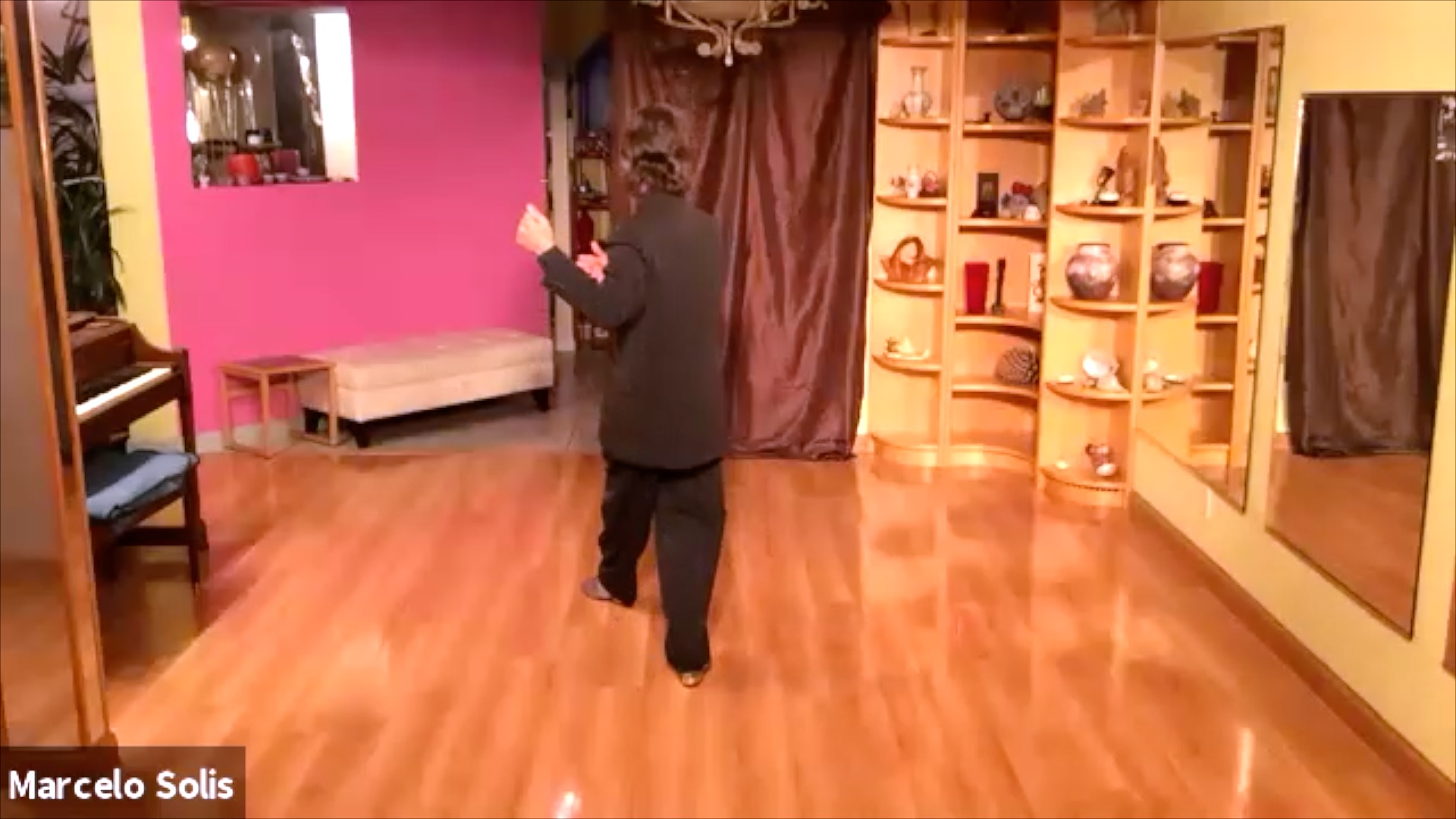 Argentine Tango class: sequence backward ocho and backward-forward move