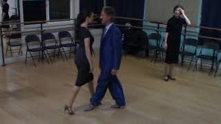 Argentine Tango dance beginner class with Miranda- arms free exercise 2