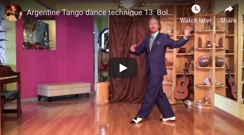 Argentine Tango dance technique 13: Boleo with Marcelo Solis