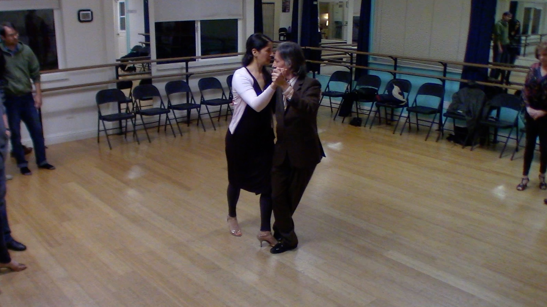 Argentine Tango dancing with Mimi at our beginner class in Lafayette