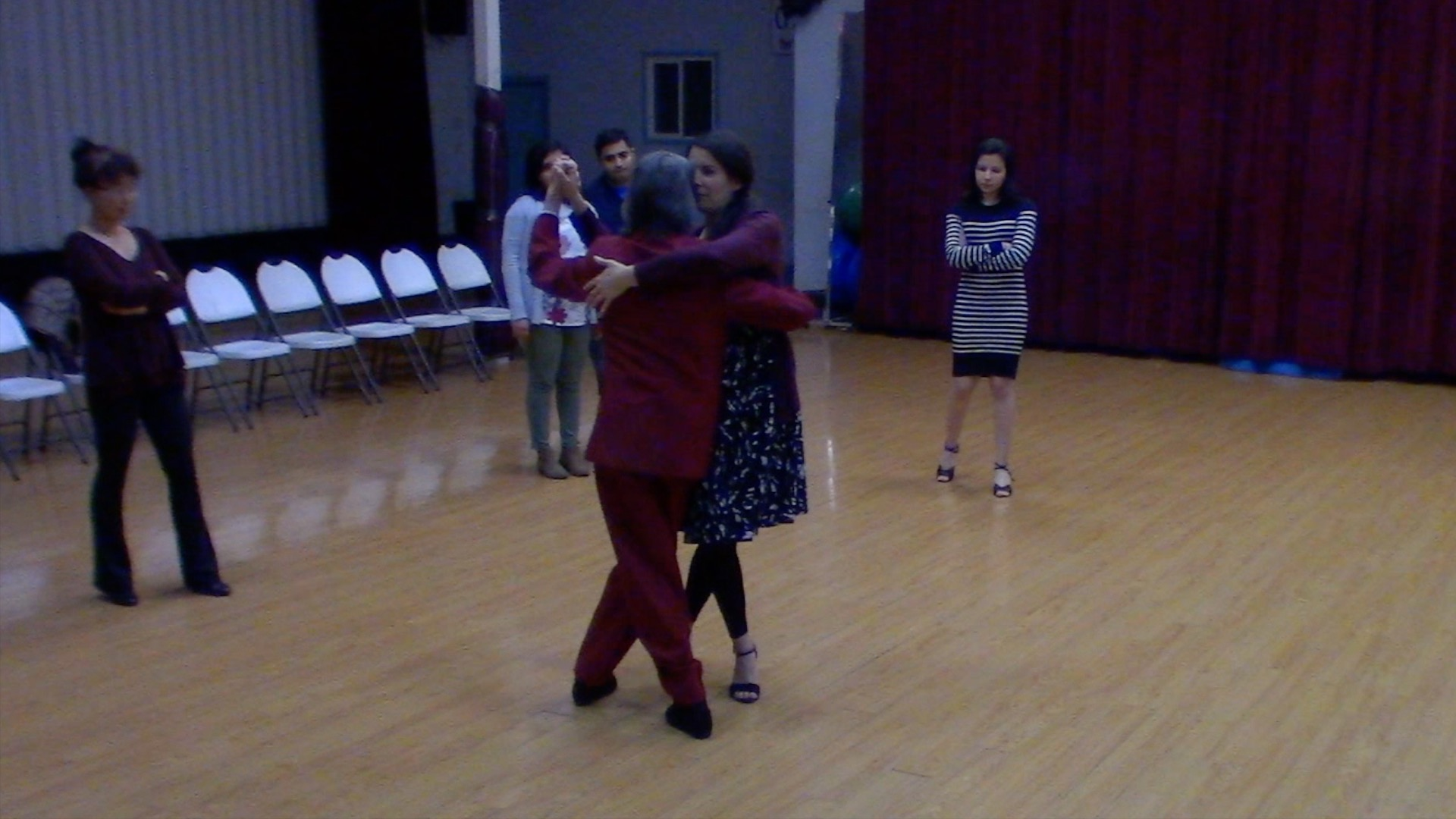 Argentine Tango dancing with Mimi for our beginner class in San Jose